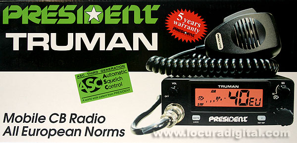 ASC President Truman CB radio 27 Mhz. AM / FM 40 CHANNEL.