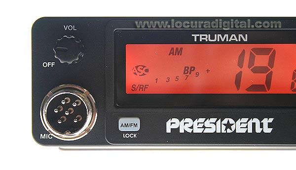 TRUMAN President ASC emisora CB 27 Mhz. AM / FM 40 CANALES.