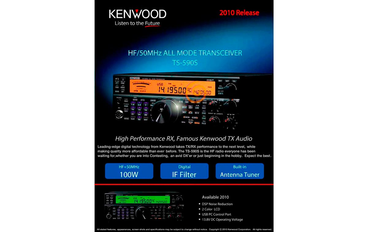 Tous r?pteur Kenwood mode TS590S HF/50MHz,