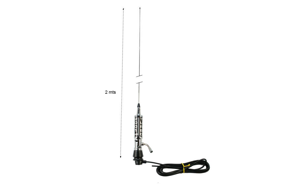 LEMM-TURBO-2001-NEPLA Antena abatible CB27 mhz Longitud 200 cm Negra