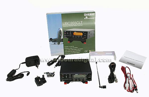 ubc-355-clt uniden escaner de base 5 bandas, frecuencias 25-54,108-174,406-512,806-956 mhz