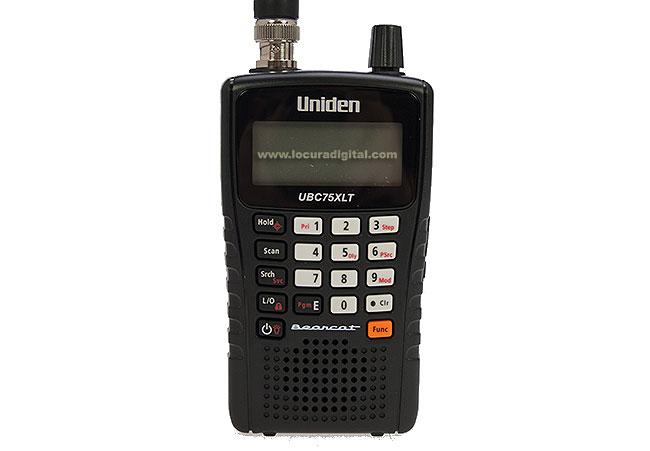 ubc75xlt uniden scanner portatil 25-512 mhz 300 canales