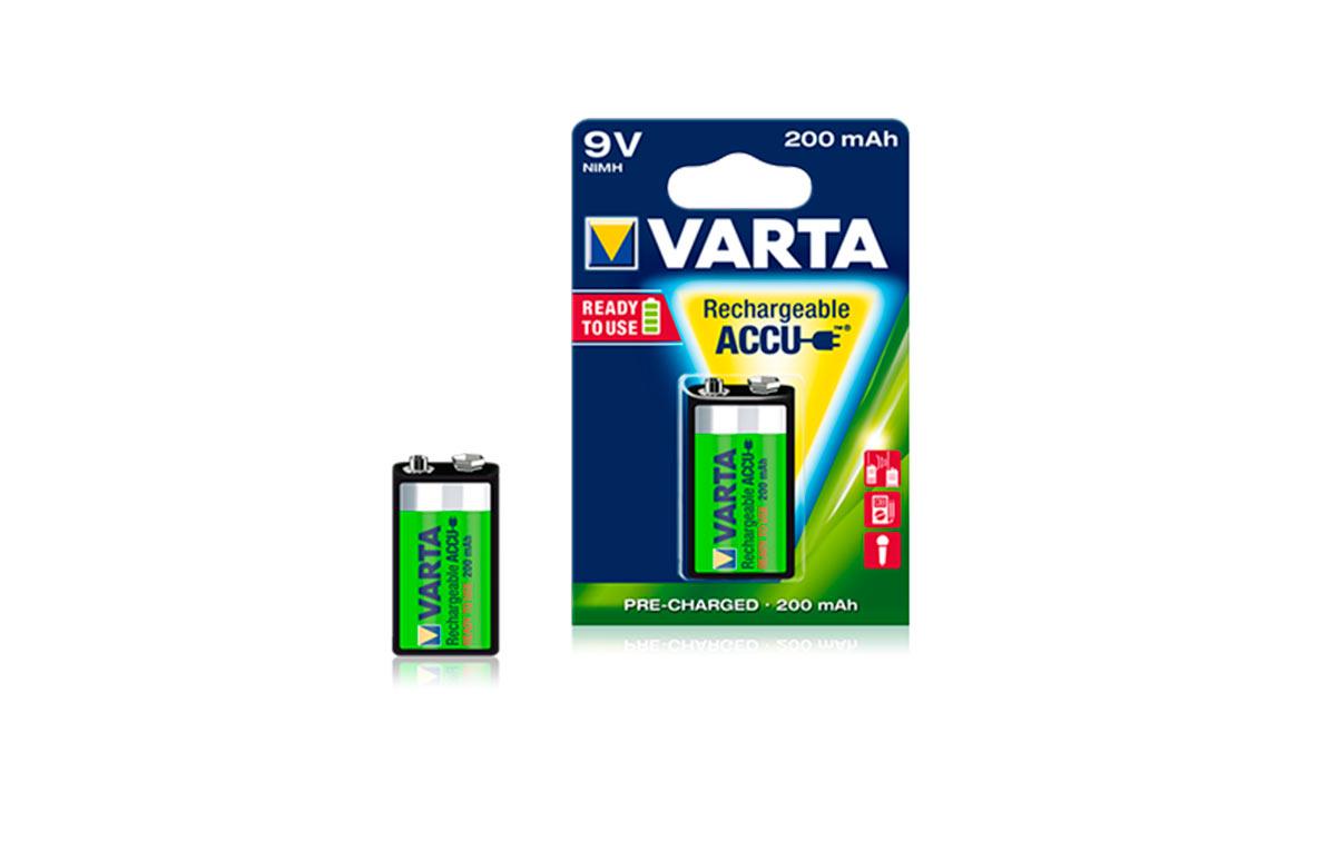 HR9VREC VARTA pila recargable 9 voltios, 200 mAh Ni-Mh