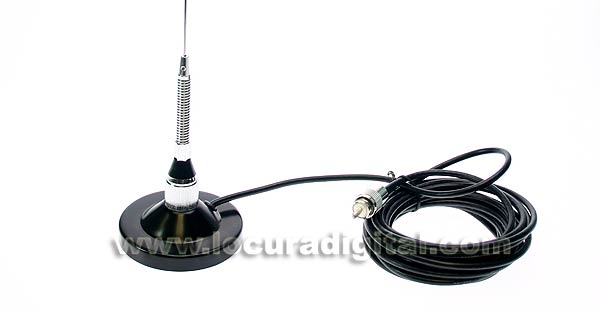 mirmidon kilo-50vkit1. vhf mobile antenna with spring magnetic base 90 mm.