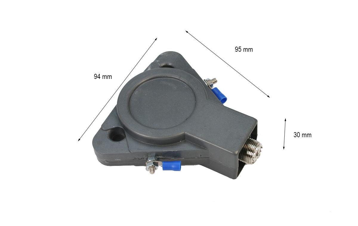 lemm vr113 balum 1:1 dipolo de 2 a 50 mhz, potencia: 3.000 watios ssb