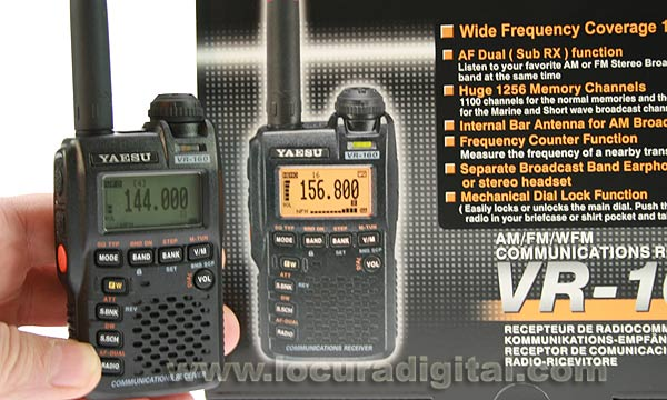 YAESU VR160 scanner covers frequencies from 100 kHz to 1299.995 MHz in the AM and FM! NEW MODEL!