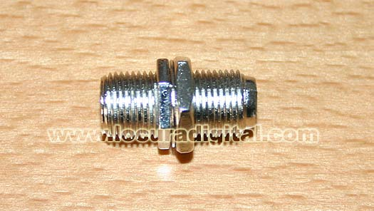 VR7511 ADAPTER F FEMALE/FEMALE.It is been worth to make joints of cacle of antenna etc.