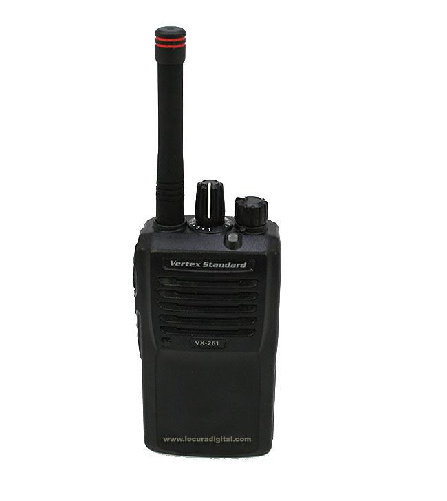 VERTEX STANDARD VX-261 UHF WALKIE PROFESIONAL 403-470 MHz NORMATIVA IP-55/ MIL810 CDEFG.