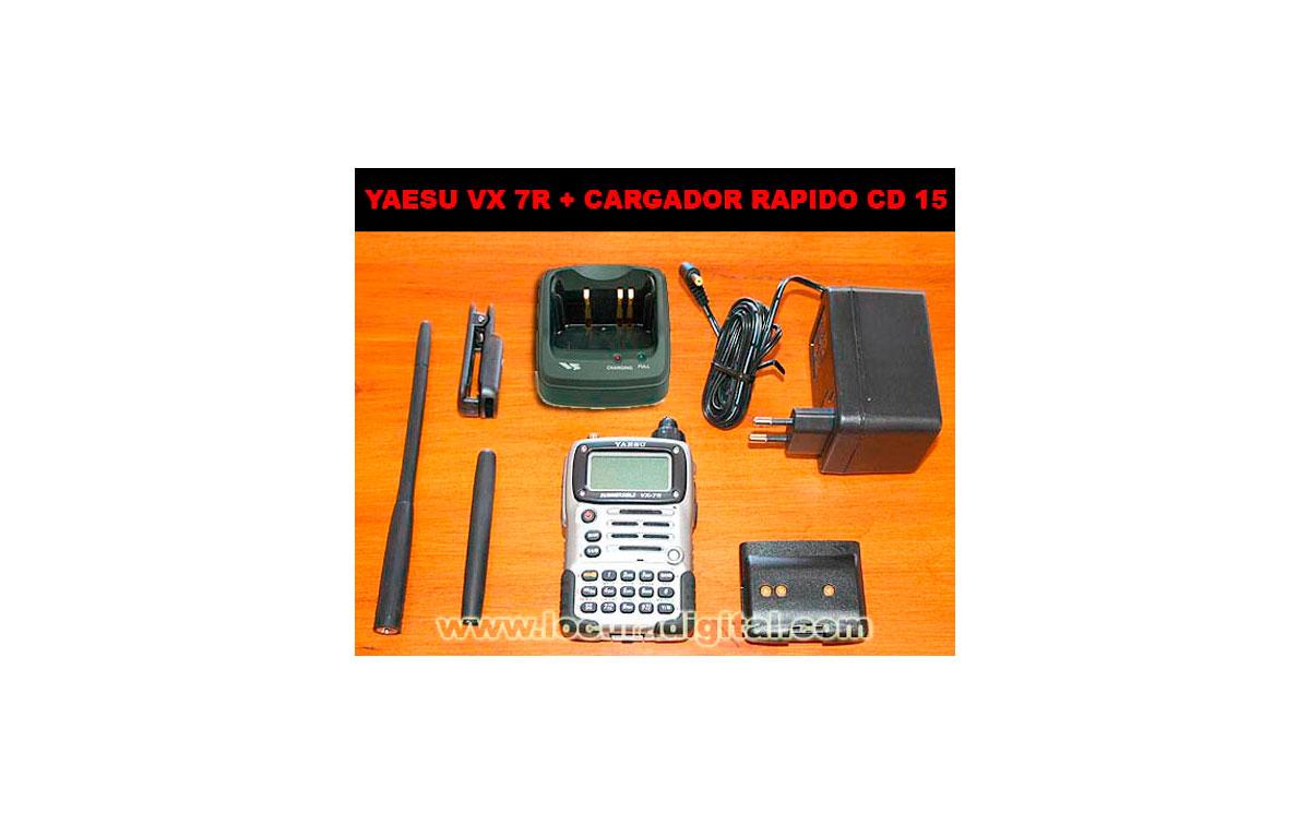 Walkie Tribanda HF/VHF/UHF YAESU VX-7RE + CARGADOR DE SOBREMESA RAPIDO CD15