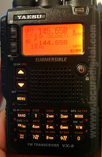 YAESU VX -8E Tri-band Walkie Talkie, Submersible. 5W Power FM 50/144/430 MHz