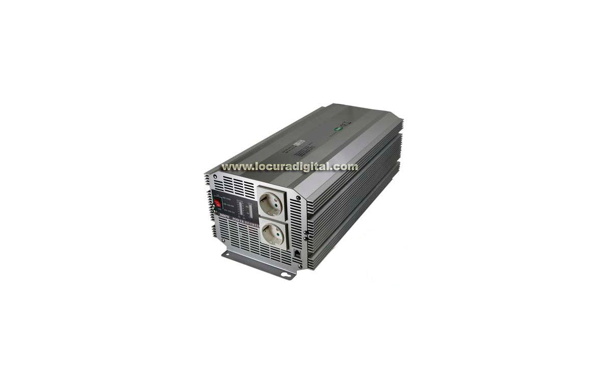 WHS3000 12. Inversor de tension de Onda Senoidal modificada de 12 V. a 220 V. Potencia 3000 WATIOS.
