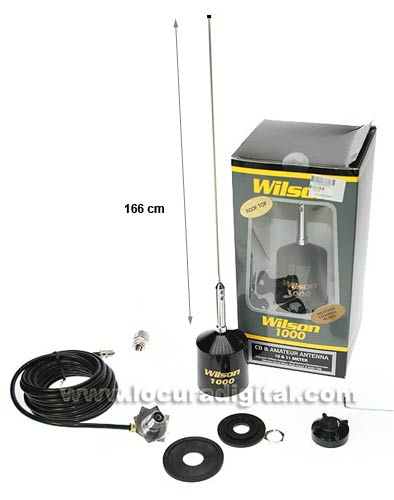 CB Wilson WILSON1000F Antenne 27 Mhz. Haute performance, Made in USA
