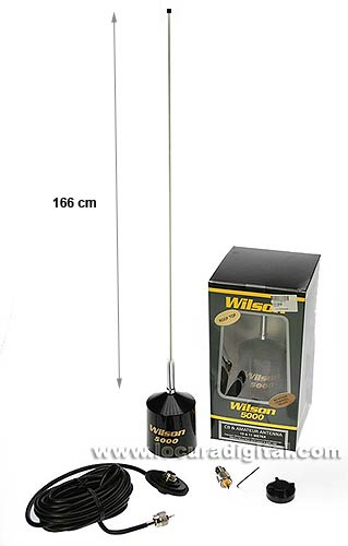 WILSON-5000F Antena Americana USA WILSON Antena CB 27 Mhz. Frecuencia de 26 - 30 mhz potencia 5000 watios