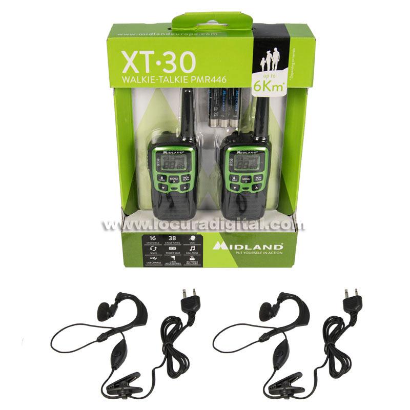 midland xt 30 pareja de walkies uso libre pmr 446