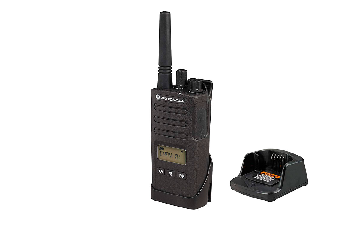 motorola xt-460 walkie uso libre pmr446 display,16 canales