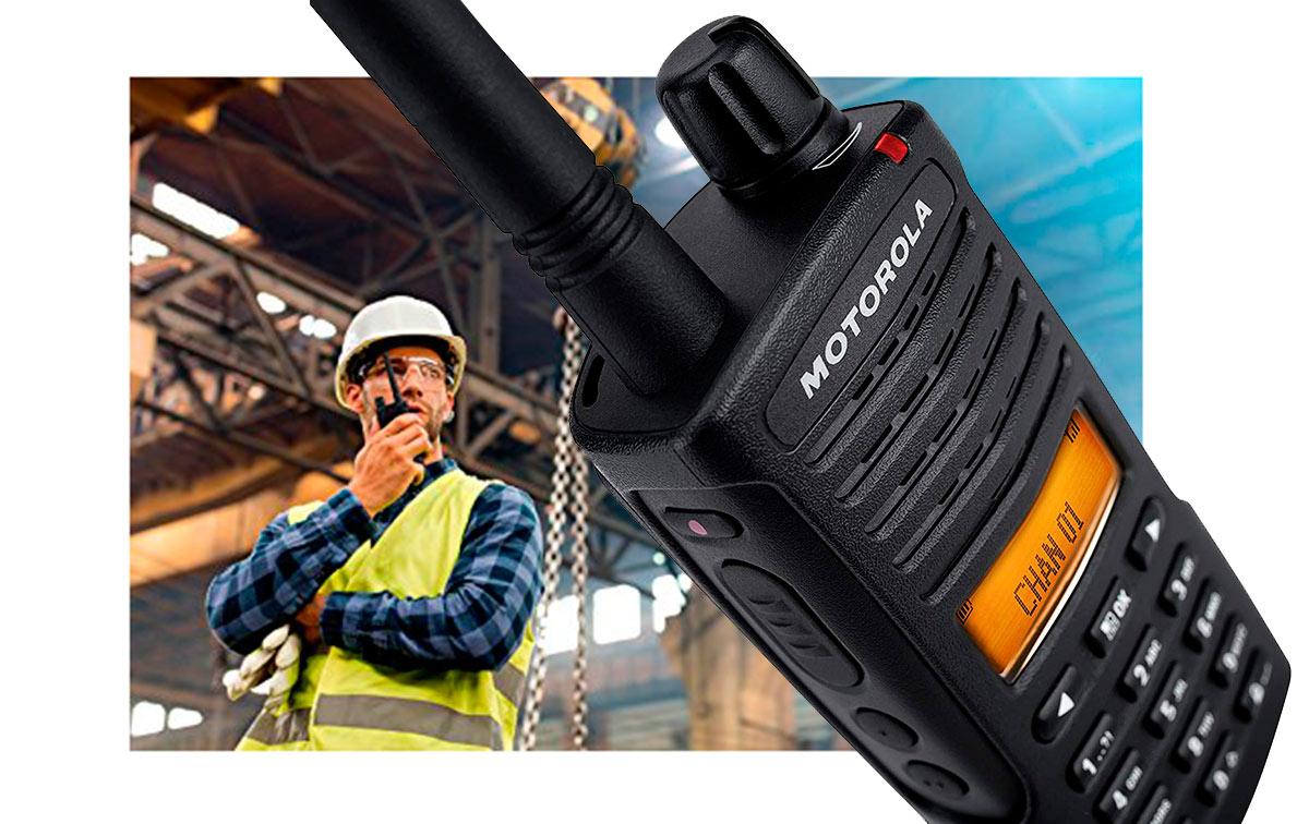 motorola xt-660 walkie pmr 446 uso libre analogico y digital display,32 canales