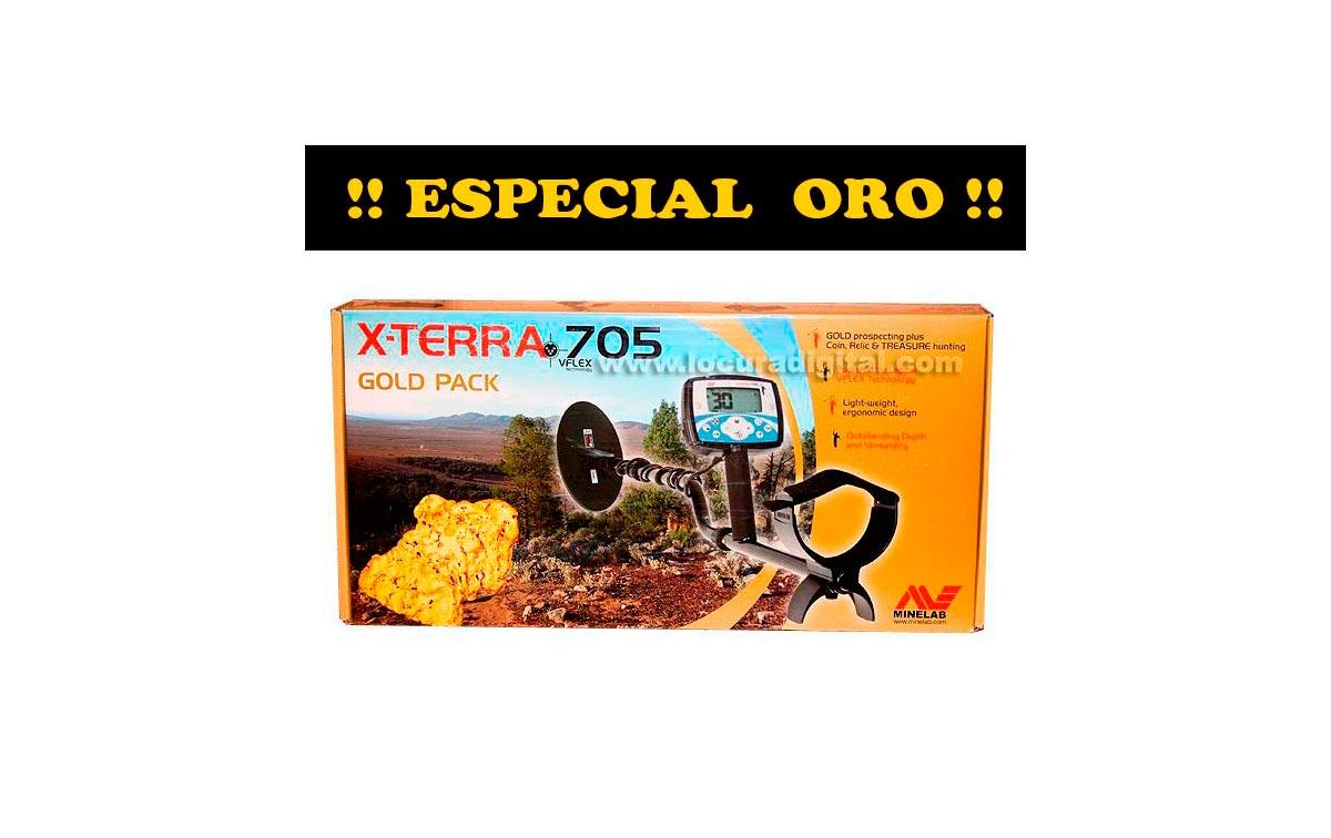 X TERRA 705 GOLD MINELAB X-TERRA 705 GOLD detector metales  ESPECIAL ORO