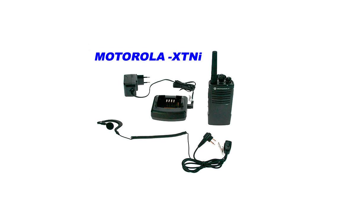 XTNI MOTOROLA Walkie PMR-446 profesional de USO LIBRE