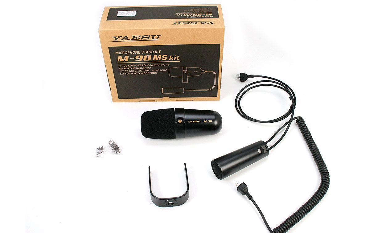 Kit M-90MS Kit de soporte de micrófono El kit M-90MS es un kit de soporte de micrófono que incluye una tuerca W3 / 8, un controlador PTT de mano y un cabezal de micrófono que se puede montar en un soporte de micrófono