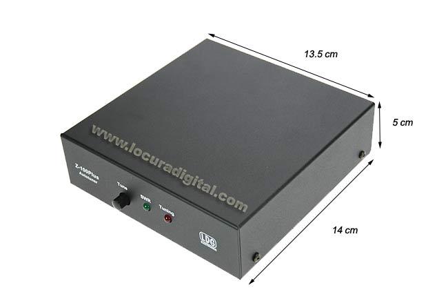 z100 plus acoplador de antena automático de 1.8 a 54 mhz