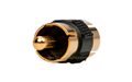 CON3916N RCA Adapter Double male golden, Color Black
