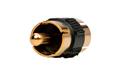 CON3916N Adaptador RCA Doble Macho dorado, Color Negro
