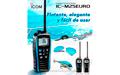BLUE ICM25 handheld VHF marine band IPX7