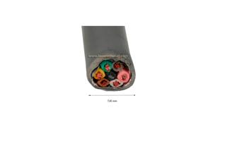 CPR6 M&P Cable para rotor 7 hilos x 0,75 mm.+ malla de masa y cubierto de lámina de aluminio