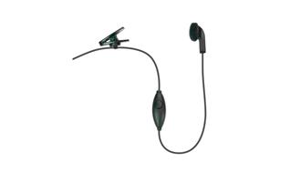 PIN-17-K Micro- Auricular PTT cable liso para KENWOOD . Pinganillo PTT.