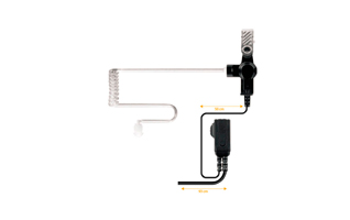 NAUZER PIN-39N1. Micro-Auricular tubular con PTT especial para ambientes ruidosos, uso Militar, Seguridad o industrial.