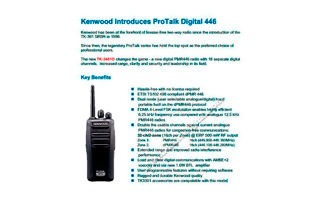 TK3401DBODY KENWOOD Walkie Analógico-Digital DMR PMR446 Uso libre.