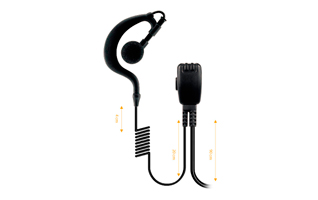Nauzer PIN-29-K. High quality micro-earphone with PTT. For KENWOOD, LUTHOR, PUXING and WOUXUN handhelds
