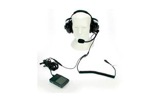 NAUZER HEL-880K PEDAL Micro-Auriculares con pedal PTT ideal para tener las manos libres.