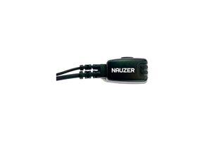 Nauzer PIN-49-K. High quality earphone with flexible microphone arm and PTT. For KENWOOD, LUTHOR, PUXING and WOUXUN handhelds