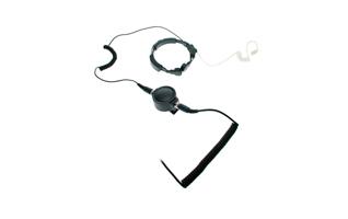NAUZER PLX330-M5. Laringofono auricular tubular Profesional de doble captador para MOTOROLA PROFESIONAL.