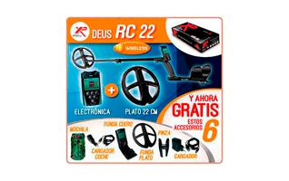 XP DEUS RC 22 METAL DETECTOR PLATO DE 22