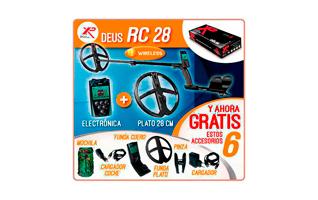 XP DEUS RC28  METAL DETECTOR PLATO DE 28