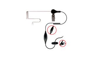 NAUZER PIN 40-M2. Micro-Auricular - Auricular  tubular especial para ambientes ruidosos con PTT / VOX.