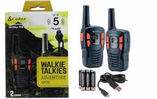 COBRA AM-245 Pareja de walkies  PMR uso libre color negro