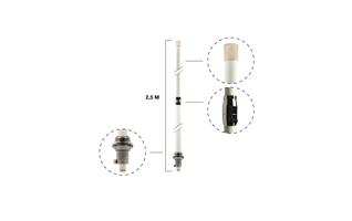 Antena BASE BIBANDA DIAMOND ORIGINAL JAPONESA X-200. Antena valida para transmitir y recibir en dos bandas VHF 144 /UHF 430. Dispone de tres radiales. Se puede instalar en mastil diametro 30 mm a 60 mm. Tipo de conexion N hembra. Longitud antena fibra col