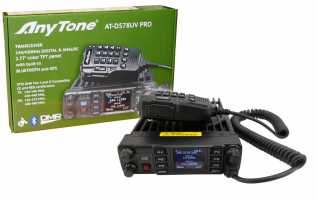 ANYTONE ATD-578UV Emisora Analogica y Digital DMR, bibanda 144/430 Mhz