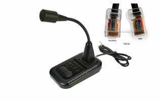 AV508 Microfono de sobremesa para YAESU FT-897 - FT-857 - FT450 y equipos Yaesu conexion de microfo RJ-45 8 pins.