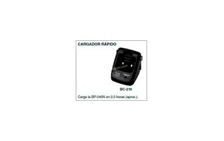 BC-210 Cargador para  walkie IC-M73 y bateria BP-245.