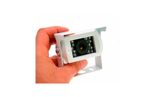 BRV411 BARRISTER camara color sistema marcha atrás visión nocturna.Color Blanco