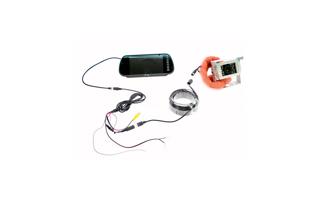 BARRISTER BRV-5 WHITE Sistema retrovision + Monitor-Retrovisor 7 pulgadas + 1 c�mara vision noturna. Color Blanco