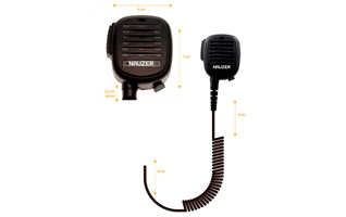 Nauzer MIA120-SP2. High quality microphone-loudspeaker with large PTT button. For SEPURA handhelds