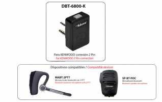 TELECOM DBT-6800-K Dongle  bluetooth para usar SP-BT-POC y MABT-2PTT en walkies conexi�n KENWOOD