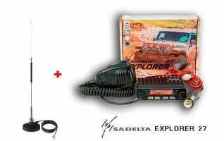 SADELTA EXPLORER-27 KIT-MiniMag-27 Emisora CB 27 Mhz Canales 40 AM / FM