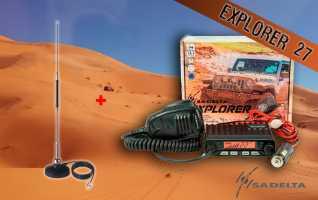 EXPLORER-27 KIT DUNAS MiniMag-27 Emisora CB 27 Mhz Canales 40 AM / FM
