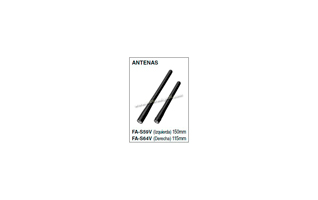 FA-S59V Antena para walkie IC-M73 longitud  150 mm.